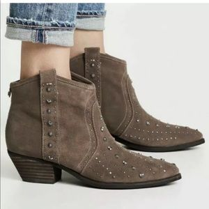 Sam Eldelman Brian Studded Booties Taupe